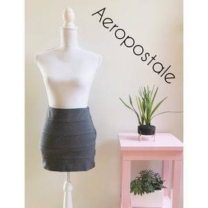 Aeropostale Gray Mini Skirt Size Medium